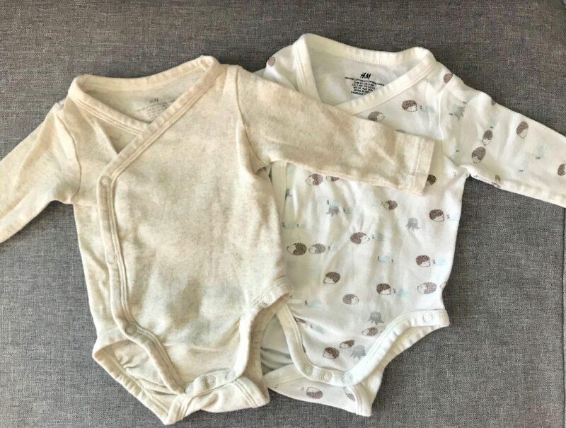 着物スタイルの赤ちゃんの服