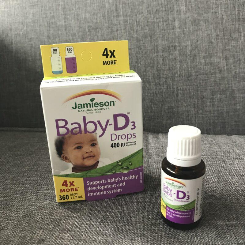 カナダで赤ちゃんに与えるビタミンDドロップ