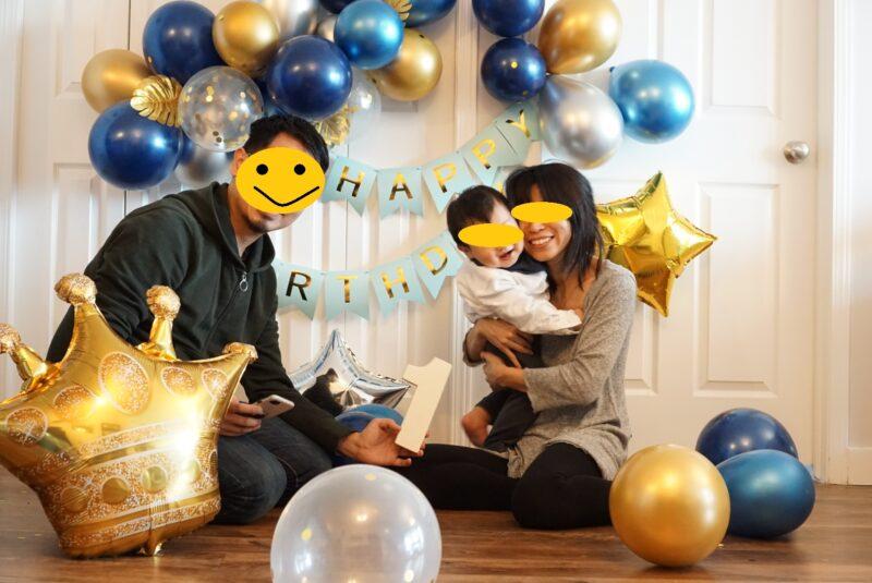 1歳の誕生日 バルーンで飾り付け