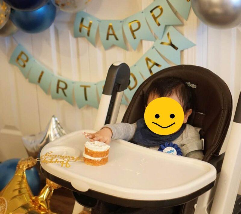 一歳の誕生日 ミニスマッシュケーキ