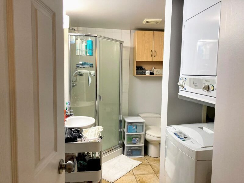 カナダのコンドミニアム シャワー室