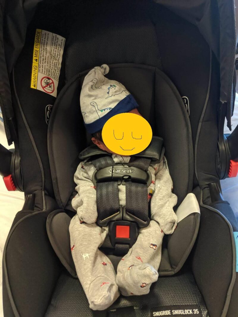 新生児と帰宅